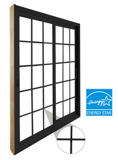 Stanley Double Sliding Patio Door With Traditional Muntin Bar Grille